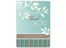 White Flora Thank You Cards